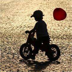 kleiner Ballonfahrer