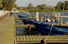 Kleiner Fischerhafen von Kamminke auf Usedom