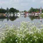 Kleiner Hafen im Frühling