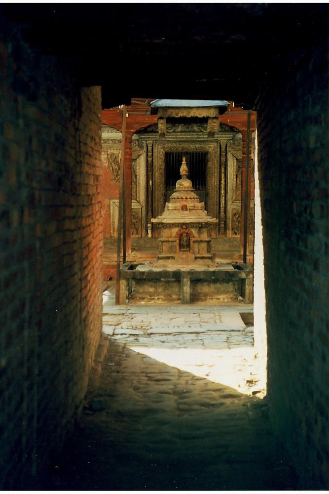 Kleiner Hinduschrein in Bhaktapur Nepal