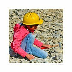 - kleiner Steinbruch-Arbeiter -