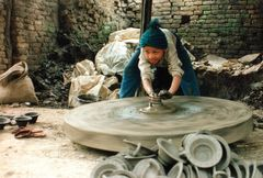 Kleiner Töpfer- Bhaktapur, Nepal