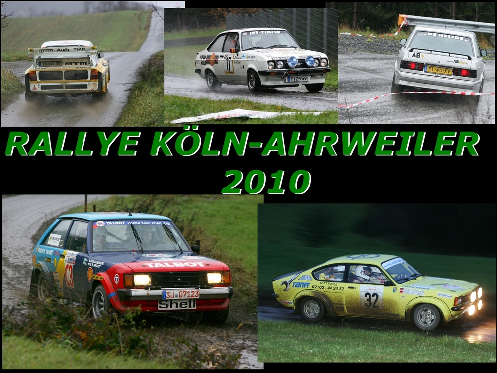 ... kleiner Überblick: Rallye Köln Ahrweiler 2010...