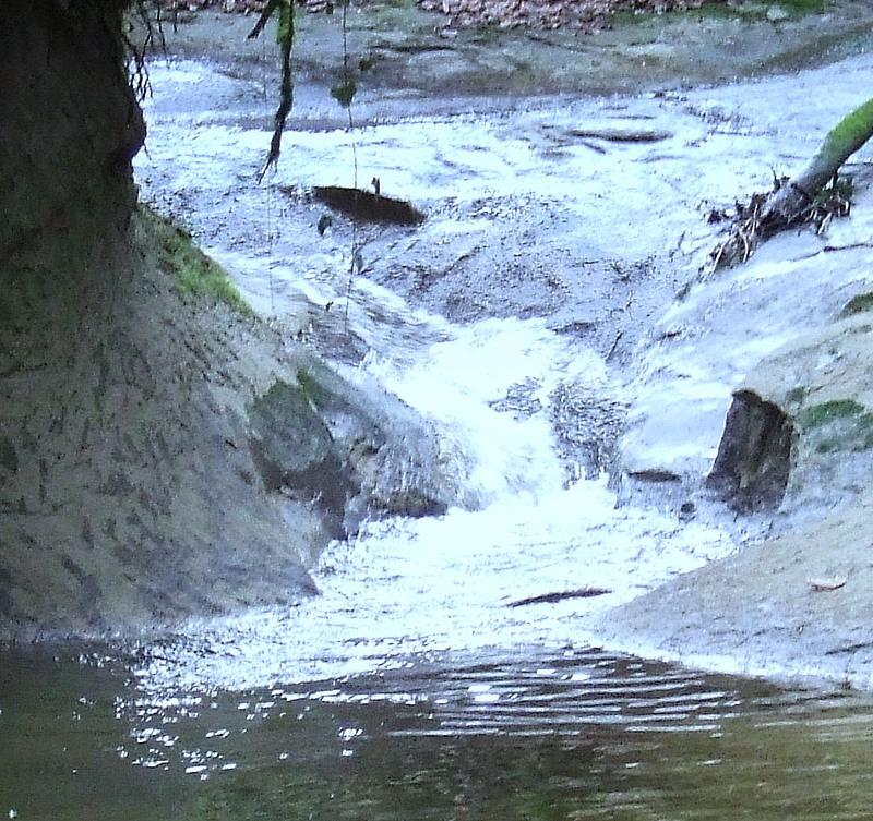Kleiner Wasserablauf
