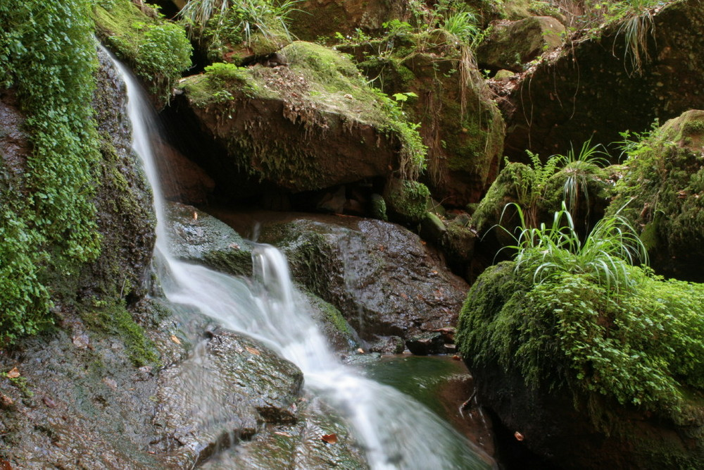 Kleiner Wasserfall imLeuktal