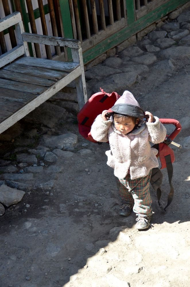 Kleines Mädchen in Chumowa