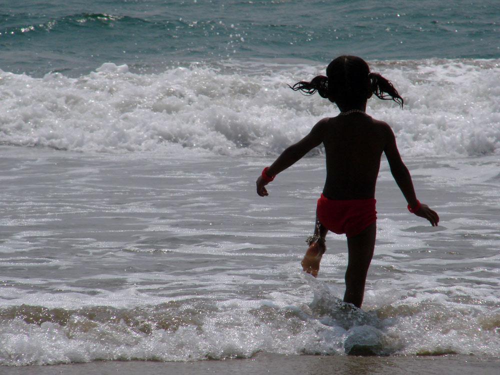 Kleines Mädchen in Kerala