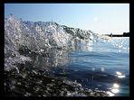 Kleines Wellchen aus dem Blickwinkel der schwimmenden Möwen