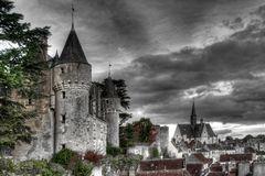 Kleinstadt im Tal der Loire/Frankreich