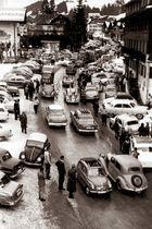 Kleinwalsertal Riezlern - Viel Verkehr damals zur Hauptreisezeit