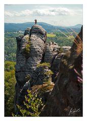 Kletterer am Mönchfelsen