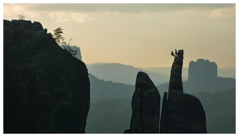Kletterer an der Brosinnadel