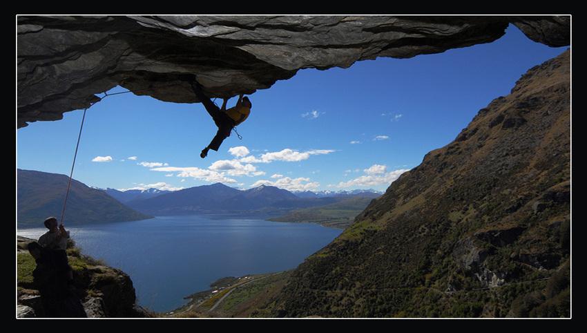 Klettergebiet bei Queenstown (Neuseeland)