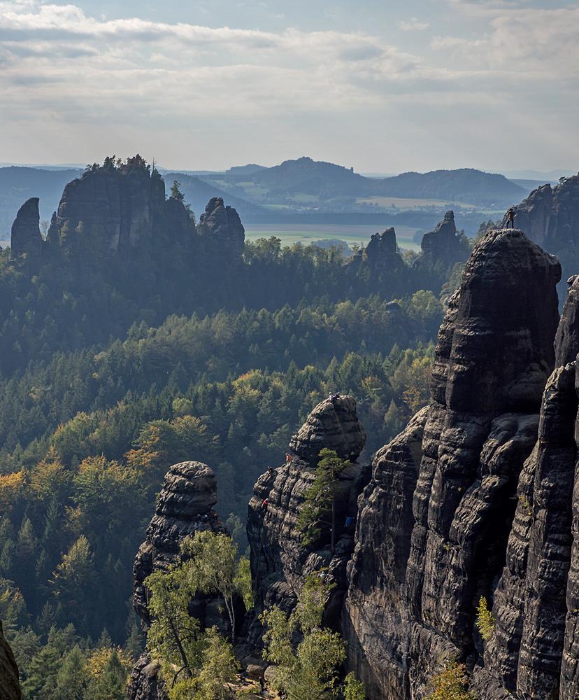 Klettern an den Lehnsteigtürmen