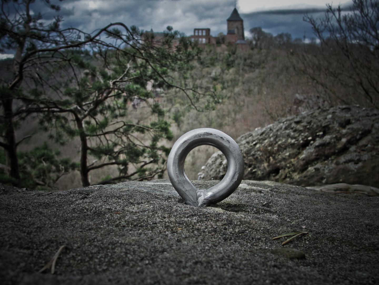 Klettern im Schatten der Burg