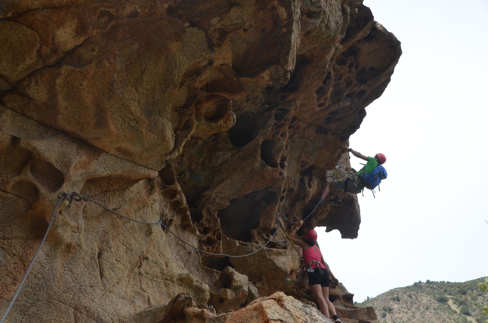 Klettern zu zweit