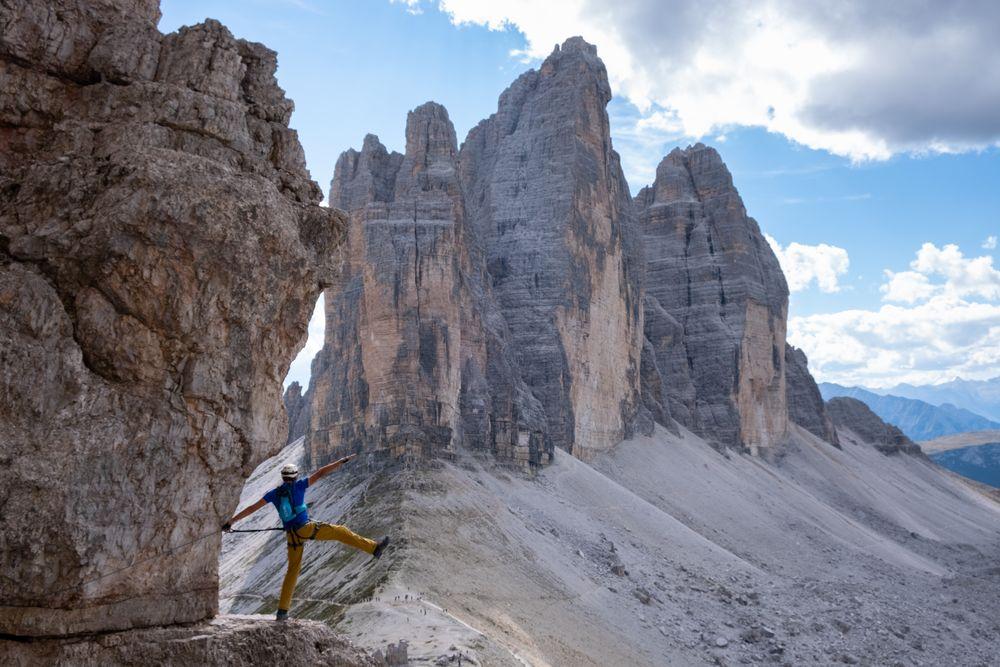 Klettersteig vor den 3 Zinnen