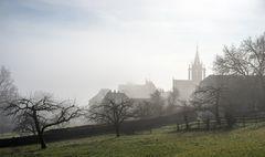 Kloster Bebenhausen im Morgennebel