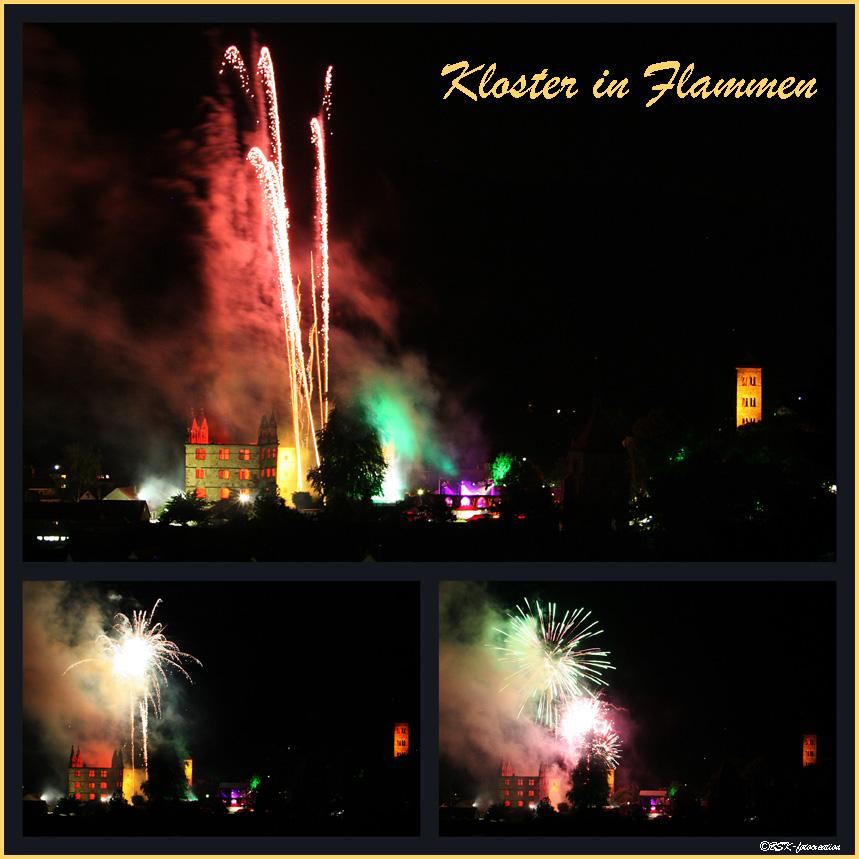 Kloster Hirsau in Flammen