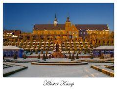 Kloster Kamp im Schnee