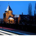 Kloster Kreitz in Neuss- Holzheim an einem eiskalten Winterabend