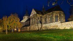 Kloster Marienberg zur Nacht