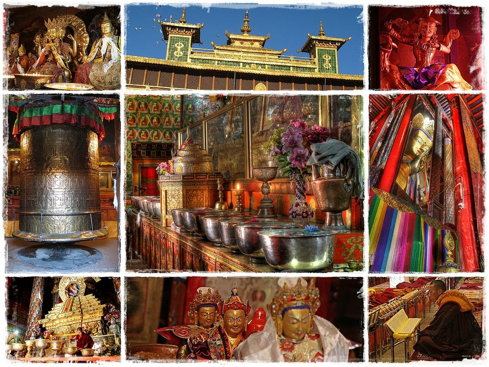 Klosterausstattungen in Tibet