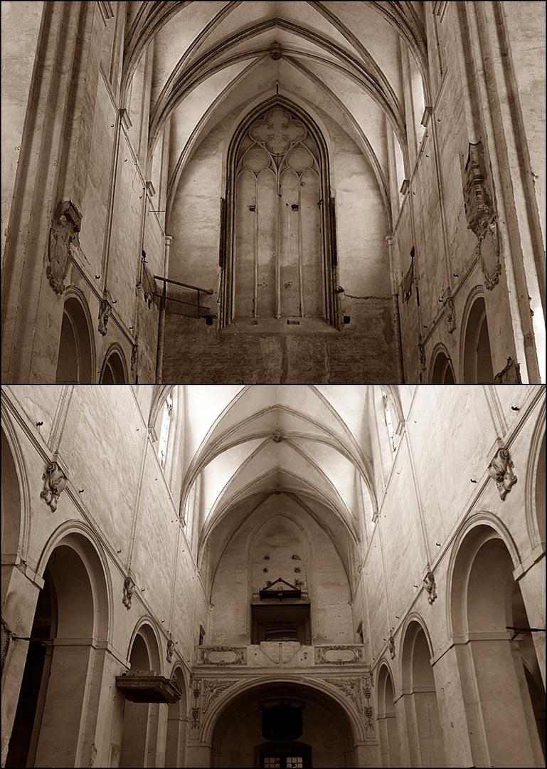 Klosterkirche Leubus (Lubiaz) entkernt
