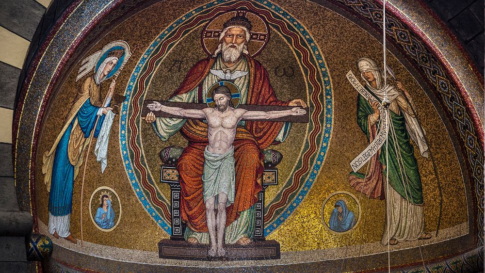 "KLOSTERKIRCHE MARIA LAACH - Mosaik ""Gnadenstuhl"""