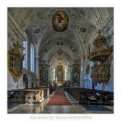"Klosterkirche Mariä Himmelfahrt  (Wettenhausen) "" Gott zu Gefallen... """