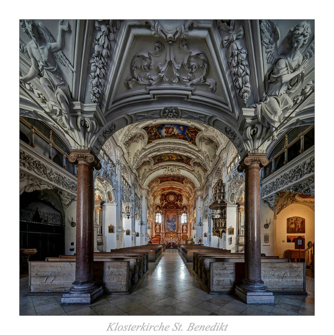 """Klosterkirche St Benedikt_Benediktbeuern """" Gott zu Gefallen..."""""""