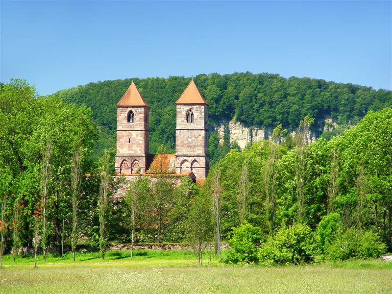 Klosterkirche St. Marien im Kloster Veßra, Eingefallener Berg