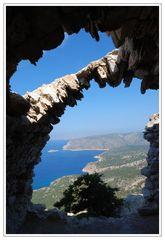 Klosterruine Monolithos auf Rhodos