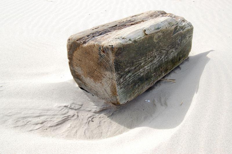 Klotz am Strand