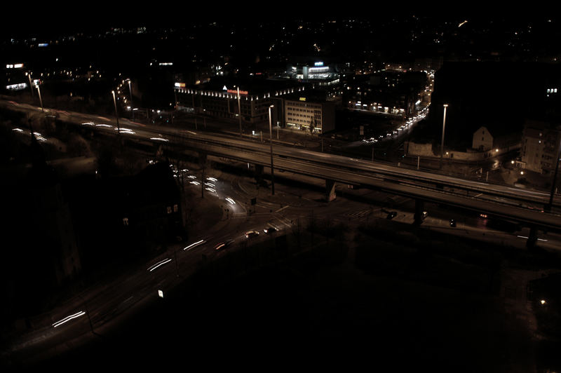 knoten 46 bei nacht