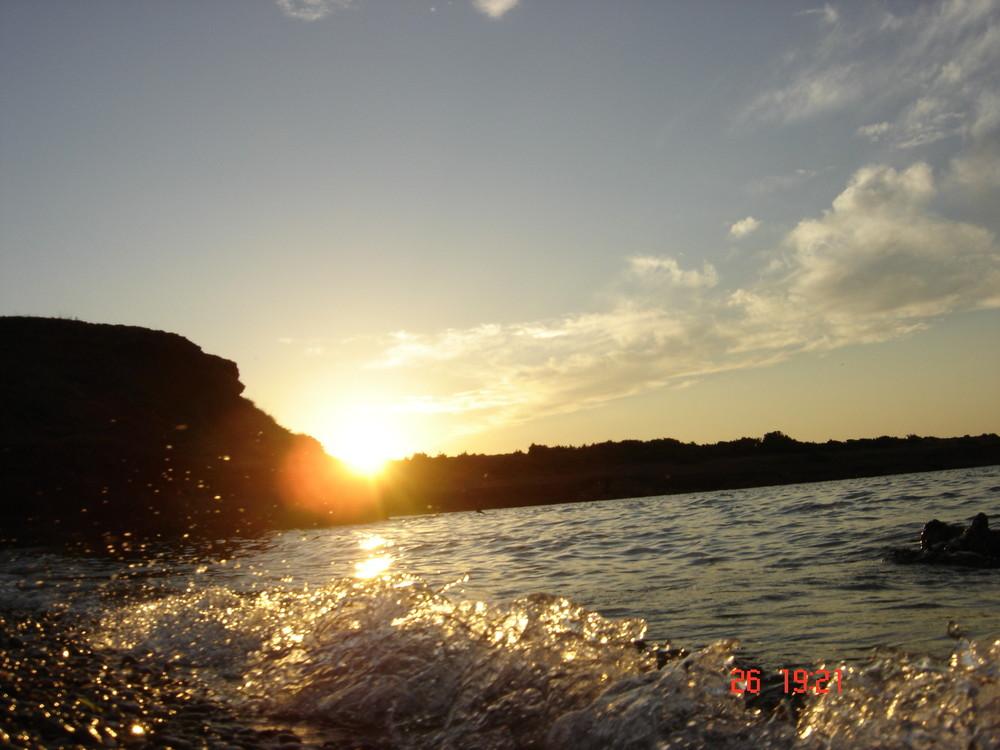 Koatische-Adria Sonnenuntergang