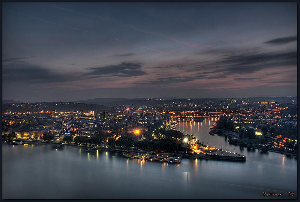 Koblenz im Dunst (HDR)