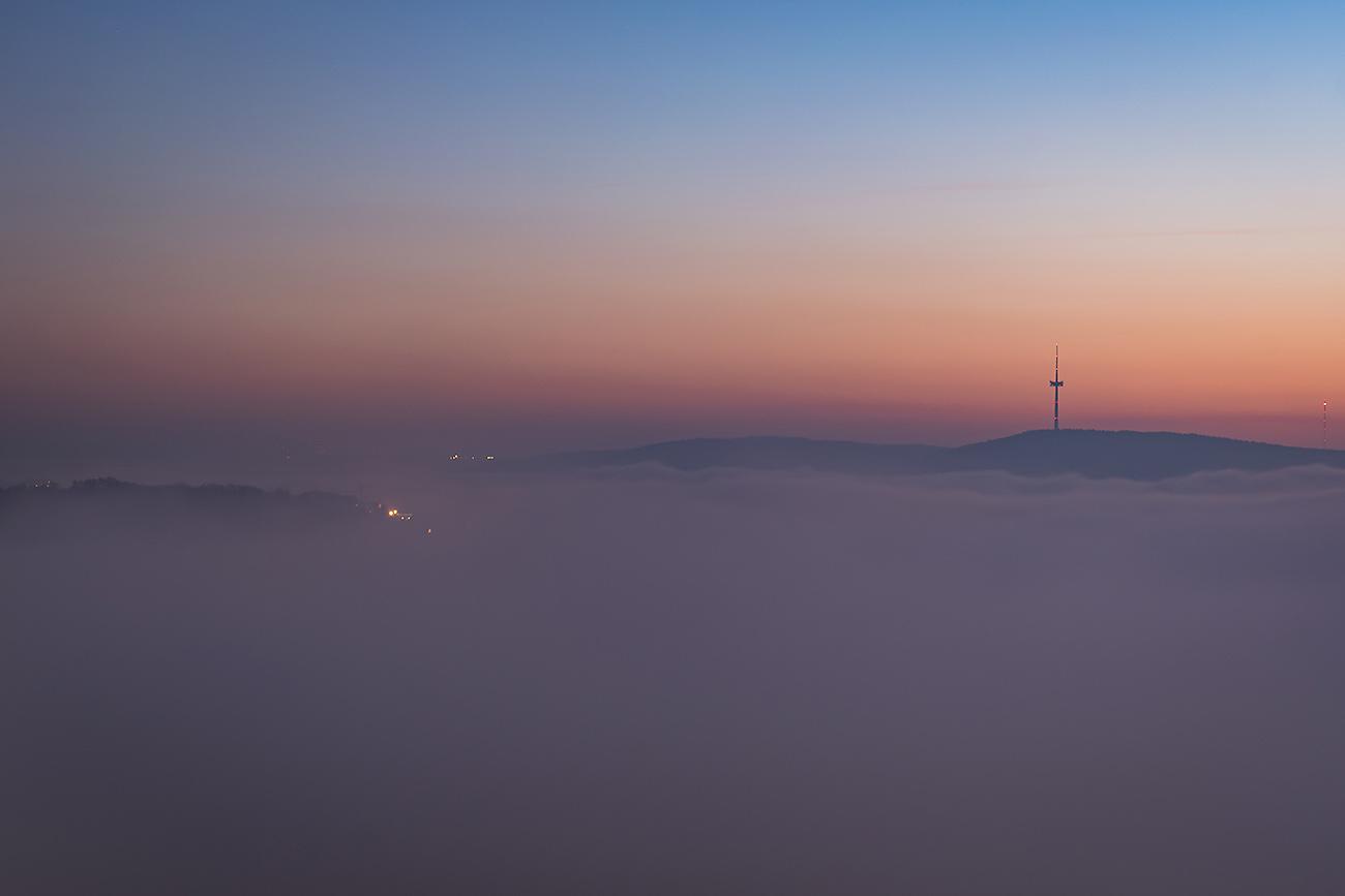 Koblenz über dem Nebelmeer