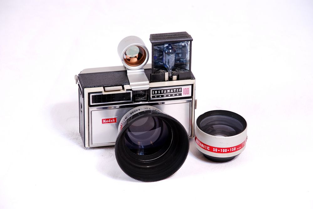 Kodak -Instamatic 100 für 24X24 mm Kleinbild.