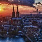 Köln Abendämmerung