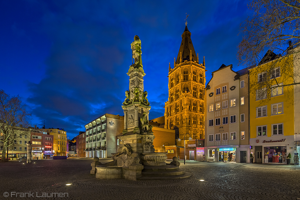 k ln alter markt mit rathaus foto bild architektur architektur bei nacht k ln bilder auf. Black Bedroom Furniture Sets. Home Design Ideas