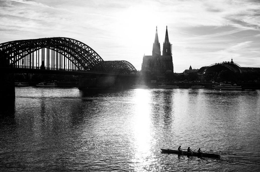 Köln at evening