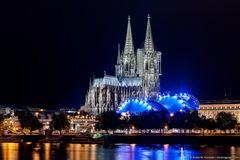Köln bei Nacht - Kölner Dom & Musical Dom