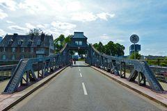 Köln-Deutz  - Drehbrücke am Rheinhafen