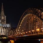 Köln - Dom - Hohenzollernbrücke