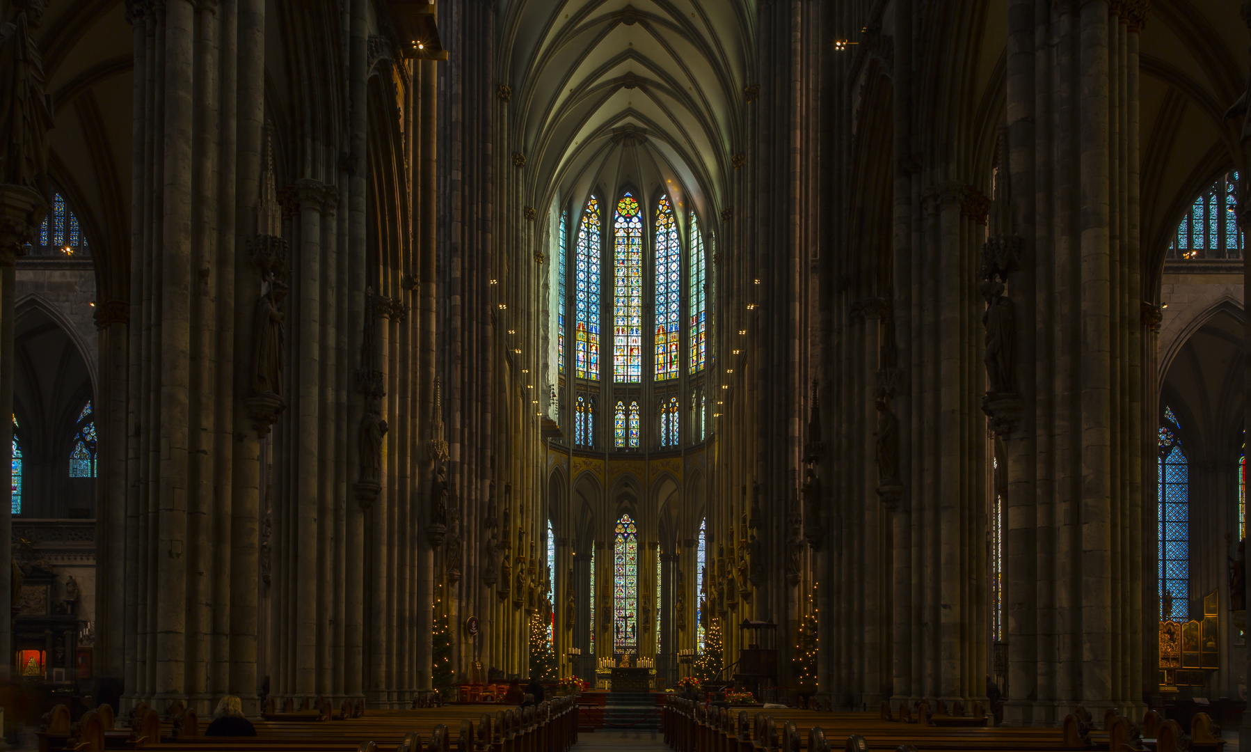 Köln, Dom, Impressionen des Innenraums © Gerold Guggenbühl
