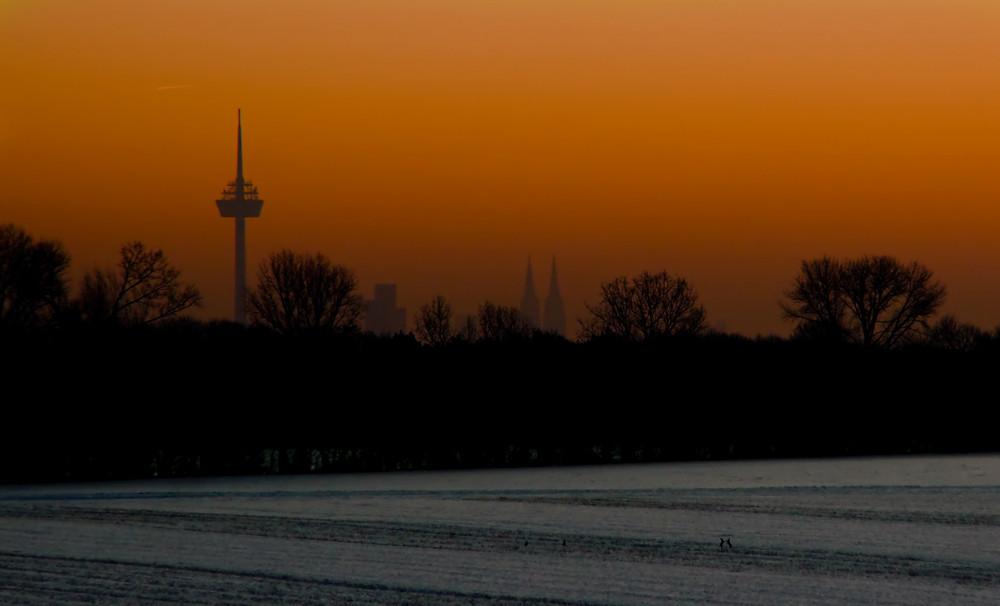 Köln erwacht am Morgen