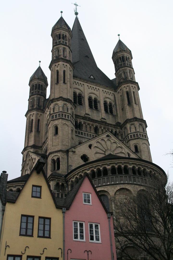 Köln -Groß Sankt Martin und das Martinsviertel in Kölns Altstadt-