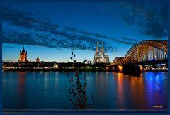 Köln - Hohenzollnerbrücke mit Dom und St.Martin