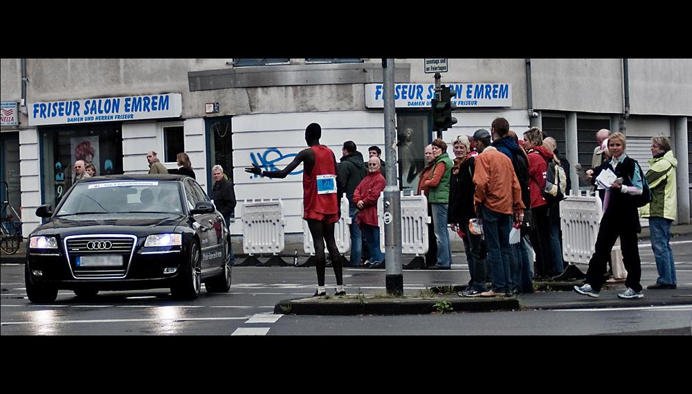 Köln Marathon: per Anhalter zum Ziel ;)